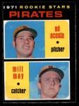 1971 O-Pee-Chee #343   -  Ed Acosta / Milt May Pirates Rookies   Front Thumbnail