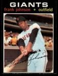 1971 O-Pee-Chee #128  Frank Johnson  Front Thumbnail