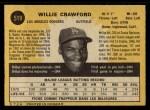 1971 O-Pee-Chee #519  Willie Crawford  Back Thumbnail