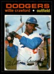 1971 O-Pee-Chee #519  Willie Crawford  Front Thumbnail