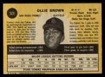 1971 O-Pee-Chee #505  Ollie Brown  Back Thumbnail