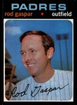 1971 O-Pee-Chee #383  Rod Gaspar  Front Thumbnail