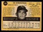 1971 O-Pee-Chee #299  Ed Kirkpatrick  Back Thumbnail