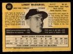 1971 O-Pee-Chee #303  Lindy McDaniel  Back Thumbnail
