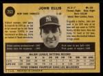 1971 O-Pee-Chee #263  John Ellis  Back Thumbnail