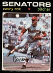 1971 O-Pee-Chee #82  Casey Cox  Front Thumbnail
