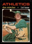 1971 O-Pee-Chee #680  Don Mincher  Front Thumbnail
