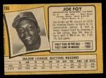 1971 O-Pee-Chee #706  Joe Foy  Back Thumbnail