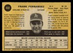 1971 O-Pee-Chee #468  Frank Fernandez  Back Thumbnail
