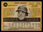1971 O-Pee-Chee #109  Steve Hovley  Back Thumbnail