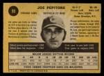 1971 O-Pee-Chee #90  Joe Pepitone  Back Thumbnail