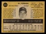 1971 O-Pee-Chee #214  Al Ferrara  Back Thumbnail