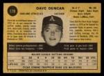 1971 O-Pee-Chee #178  Dave Duncan  Back Thumbnail