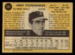 1971 O-Pee-Chee #501  Andy Etchebarren  Back Thumbnail