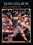 1971 O-Pee-Chee #501  Andy Etchebarren  Front Thumbnail