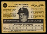 1971 O-Pee-Chee #489  Luis Alvarado  Back Thumbnail