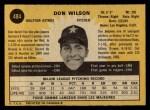 1971 O-Pee-Chee #484  Don Wilson  Back Thumbnail