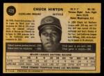 1971 O-Pee-Chee #429  Chuck Hinton  Back Thumbnail