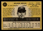 1971 O-Pee-Chee #257  Nelson Briles  Back Thumbnail