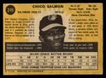1971 O-Pee-Chee #249  Chico Salmon  Back Thumbnail