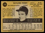 1971 O-Pee-Chee #140  Gaylord Perry  Back Thumbnail