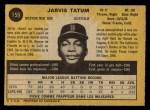 1971 O-Pee-Chee #159  Jarvis Tatum  Back Thumbnail