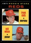 1971 O-Pee-Chee #164   -  Frank Duffy / Milt Wilcox Reds Rookies Front Thumbnail