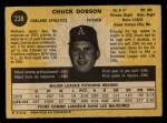 1971 O-Pee-Chee #238  Chuck Dobson  Back Thumbnail