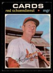 1971 O-Pee-Chee #239  Red Schoendienst  Front Thumbnail
