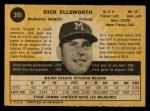 1971 O-Pee-Chee #309  Dick Ellsworth  Back Thumbnail