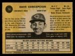 1971 O-Pee-Chee #14  Dave Concepcion  Back Thumbnail
