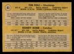 1971 O-Pee-Chee #83   -   Randy Bobb / Tim Foli Mets Rookies Back Thumbnail