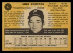 1971 O-Pee-Chee #77  Mike Compton  Back Thumbnail