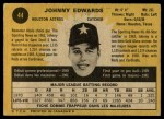 1971 O-Pee-Chee #44  Johnny Edwards  Back Thumbnail