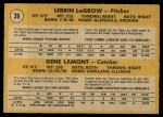 1971 O-Pee-Chee #39   -  Gene Lamont / Lerrin LaGrow  Tigers Rookies Back Thumbnail