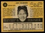 1971 O-Pee-Chee #38  Jim Colborn  Back Thumbnail