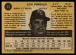 1971 O-Pee-Chee #35  Lou Piniella  Back Thumbnail