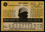 1971 O-Pee-Chee #33  Del Unser  Back Thumbnail