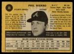 1971 O-Pee-Chee #30  Phil Niekro  Back Thumbnail