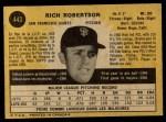 1971 O-Pee-Chee #443  Rich Robertson  Back Thumbnail