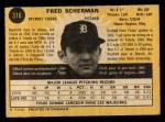 1971 O-Pee-Chee #316  Fred Scherman  Back Thumbnail