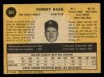 1971 O-Pee-Chee #364  Tommy Dean  Back Thumbnail