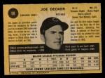 1971 O-Pee-Chee #98  Joe Decker  Back Thumbnail