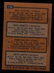 1978 Topps #710   -   Mike Easler / Rick Bosetti / Keith Smith / Del Alston Rookie Outfielders  Back Thumbnail