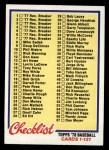 1978 Topps #74   Checklist 1 Front Thumbnail
