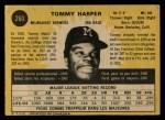 1971 O-Pee-Chee #260  Tommy Harper  Back Thumbnail
