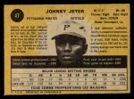 1971 O-Pee-Chee #47  Johnny Jeter  Back Thumbnail