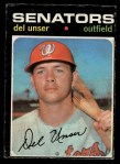 1971 O-Pee-Chee #33  Del Unser  Front Thumbnail