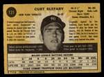 1971 O-Pee-Chee #131  Curt Blefary  Back Thumbnail