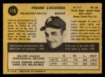 1971 O-Pee-Chee #119  Frank Lucchesi  Back Thumbnail